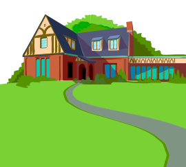 House walkway clipart.