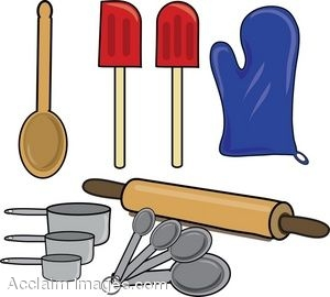 Clip Art of Items Used For Baking.