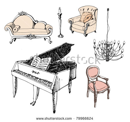 Free victorian furniture clipart photoshop brushes download (3.