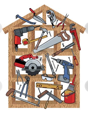 House Construction stock vector.