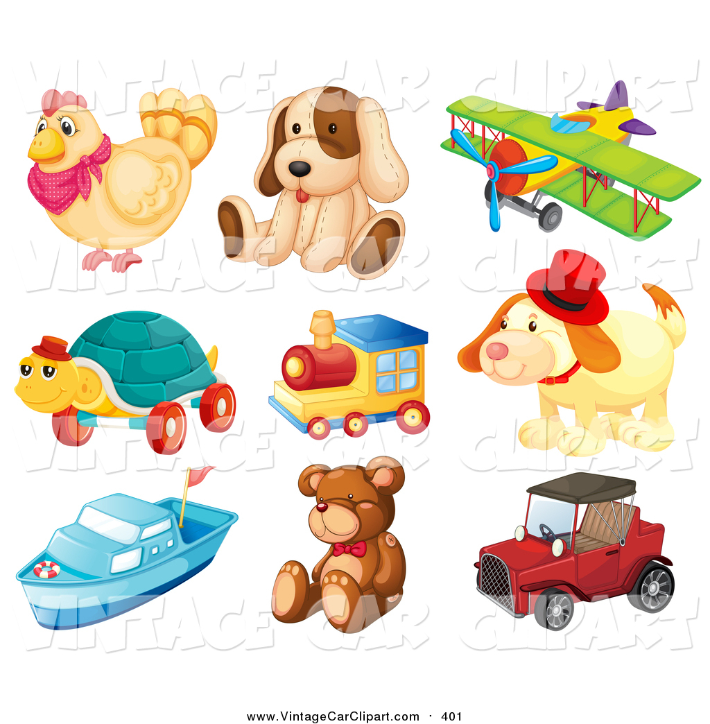 Clipart of Toys by colematt.