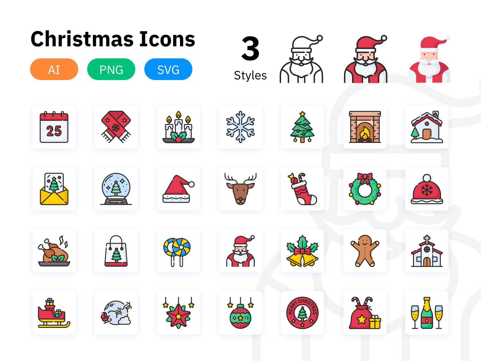 Free Christmas icons Vector.