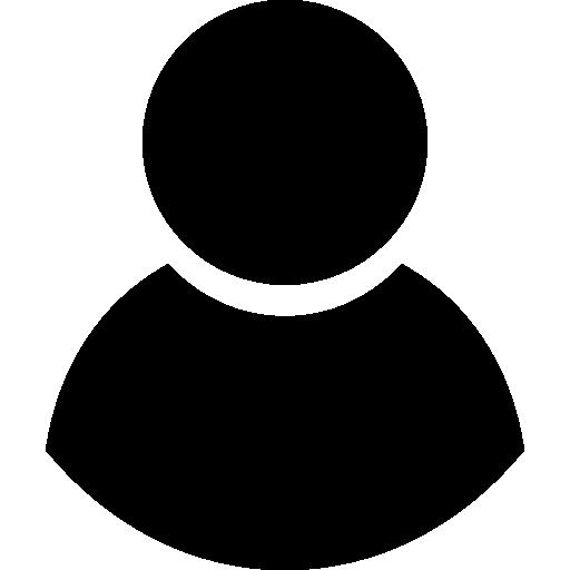 Black male user symbol Icons.
