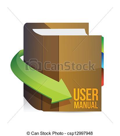 Vector Illustration of User guide book illustration design.