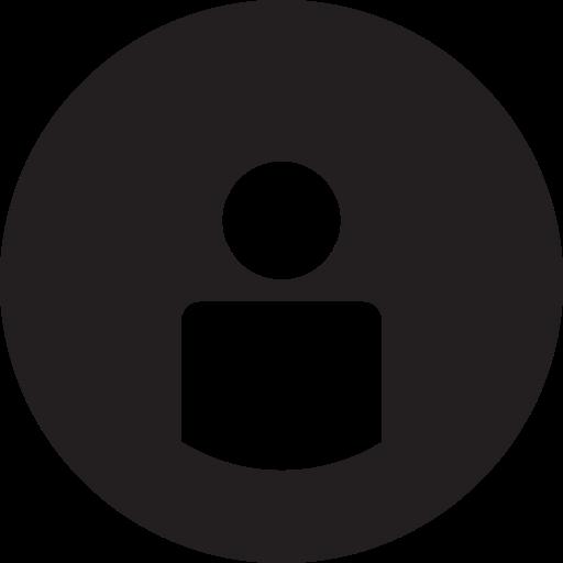 Full, name, round, user, username icon.