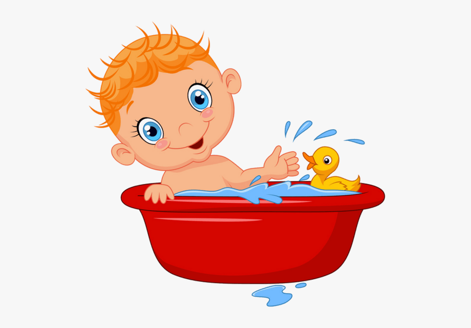 Kid Bath Clip Art.