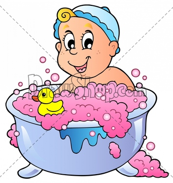 Uses Of Water For Bathing Clipart.