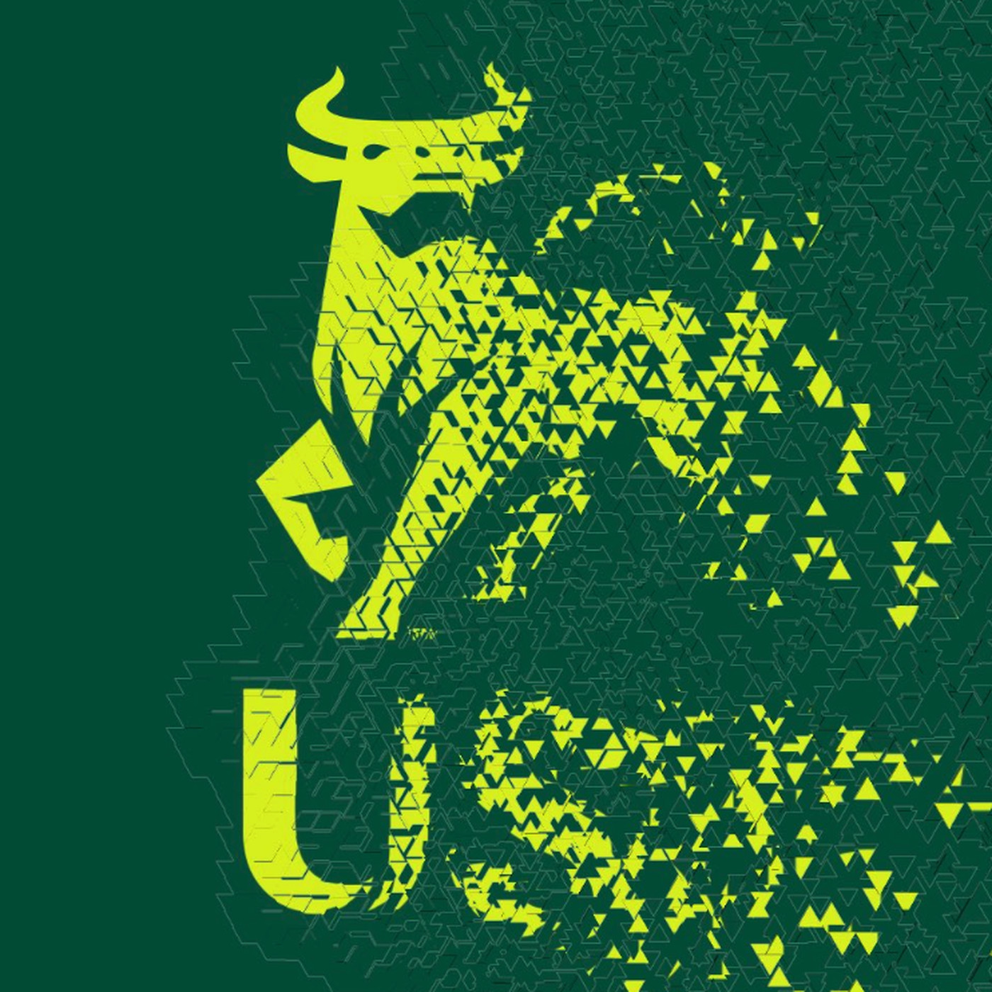 The USF logo being killed: A Tale in three acts.