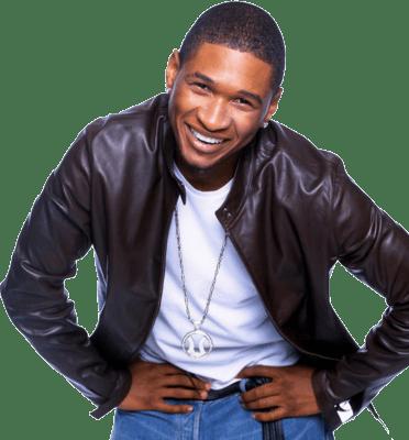 Usher Smiling transparent PNG.