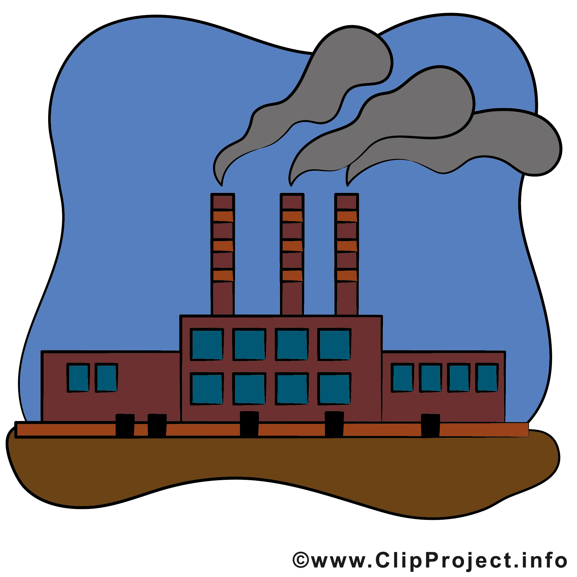 Clipart usine 7 » Clipart Station.
