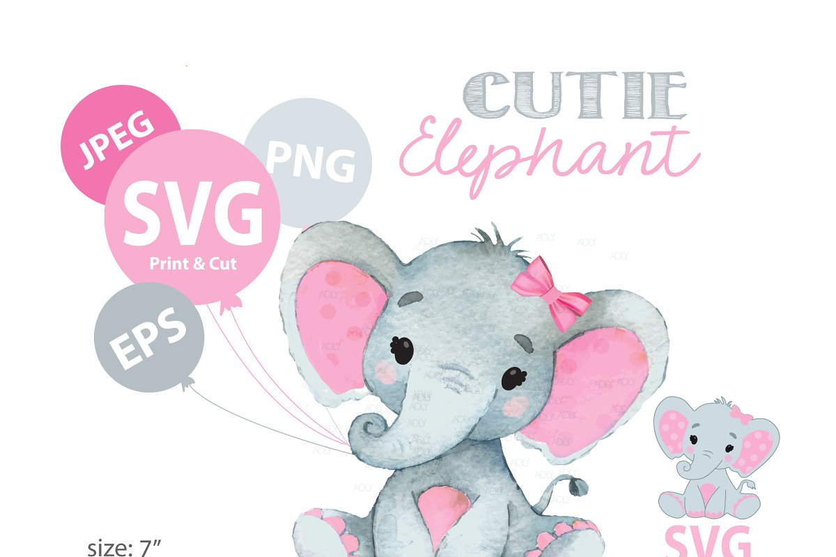 Elephant svg file,elephant clipart.