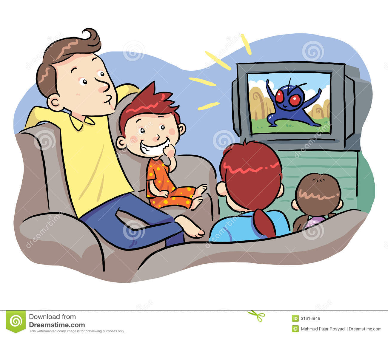 Tv Commercial Clipart.