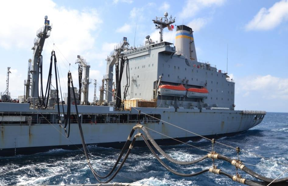 USNS Laramie, ESPS Infanta Cristina Engage in RAS.