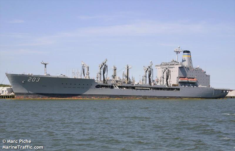 Vessel details for: USNS LARAMIE (Replenishment Vessel).