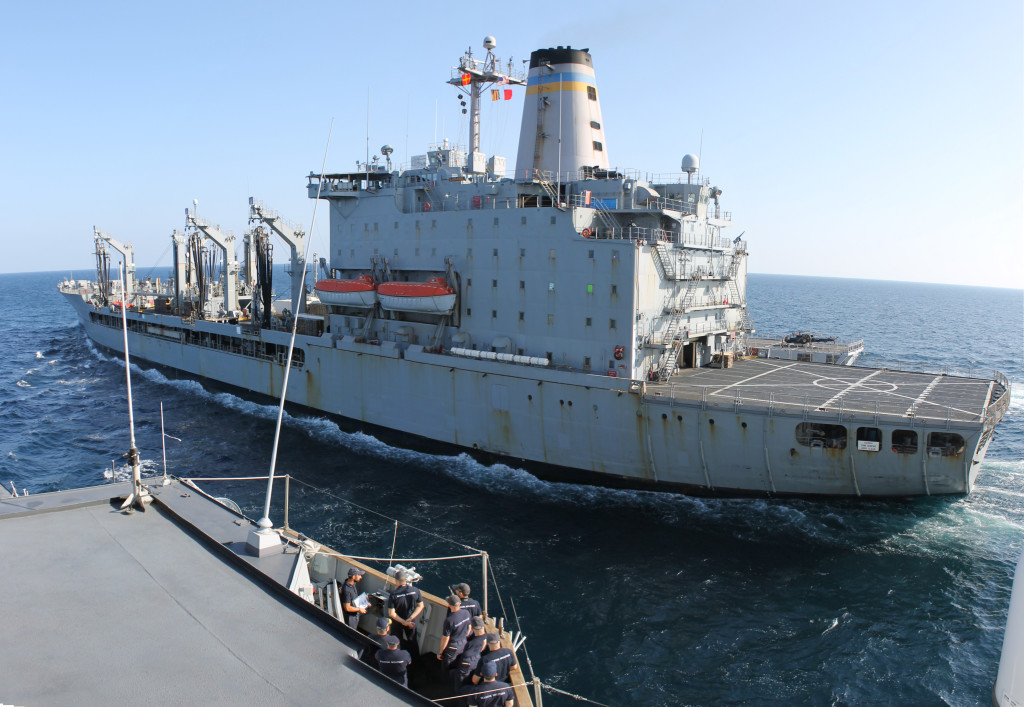 US Supply Ship USNS Laramie Supports Operation Atalanta off the.