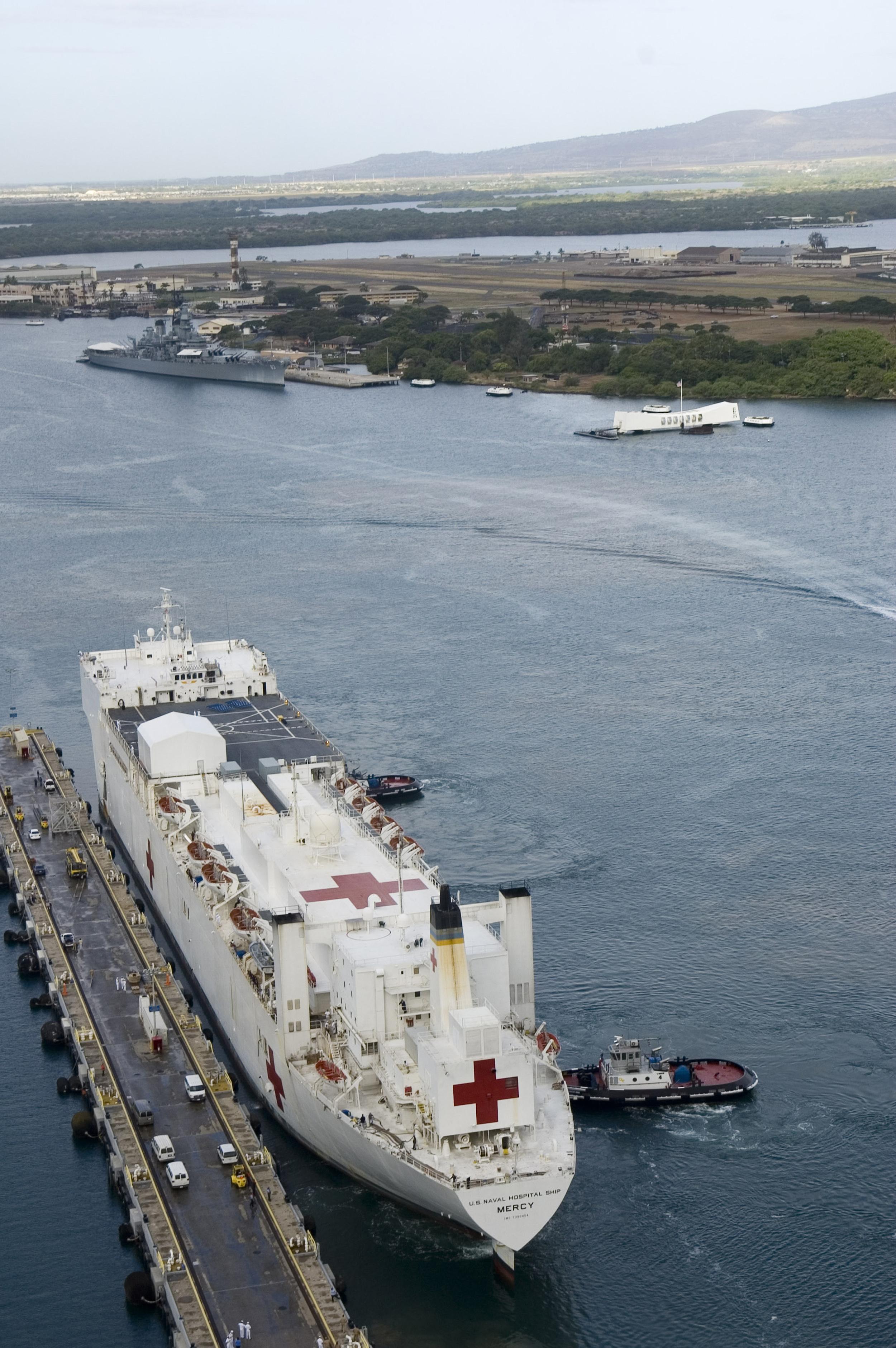 Photograph of The Military Sealift Command Hospital Ship USNS.