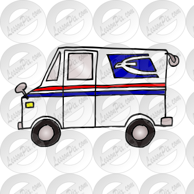 mail truck Picture for Classroom / Therapy Use.
