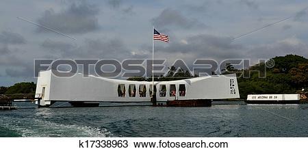 Stock Photo of USS Arizona Memorial Pearl Harbor Hawaii k17338963.