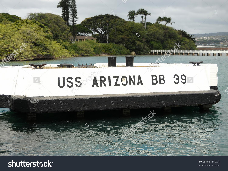 Docking Pier Of The Battleship U.S.S. Arizona In Pearl Harbor.