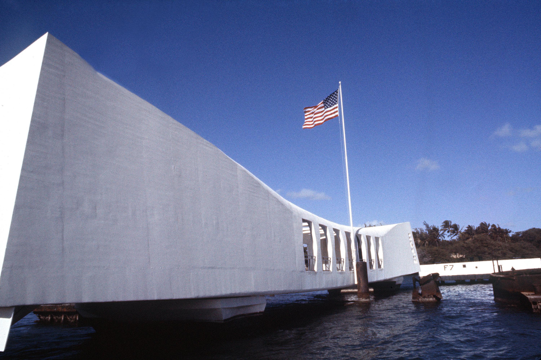 Photo of the USS ARIZONA Memorial, Pearl Harbor, Hawaii, 1978.