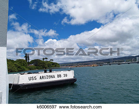 Picture of Sign for the USS Arizona Memorial k6006597.