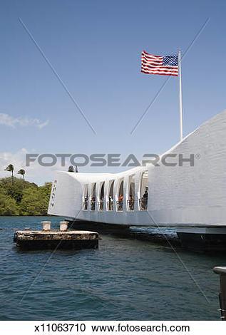 Stock Photography of USS Arizona, Arizona Memorial, National.