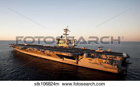 Stock Photo of The aircraft carrier USS Carl Vinson is underway in.