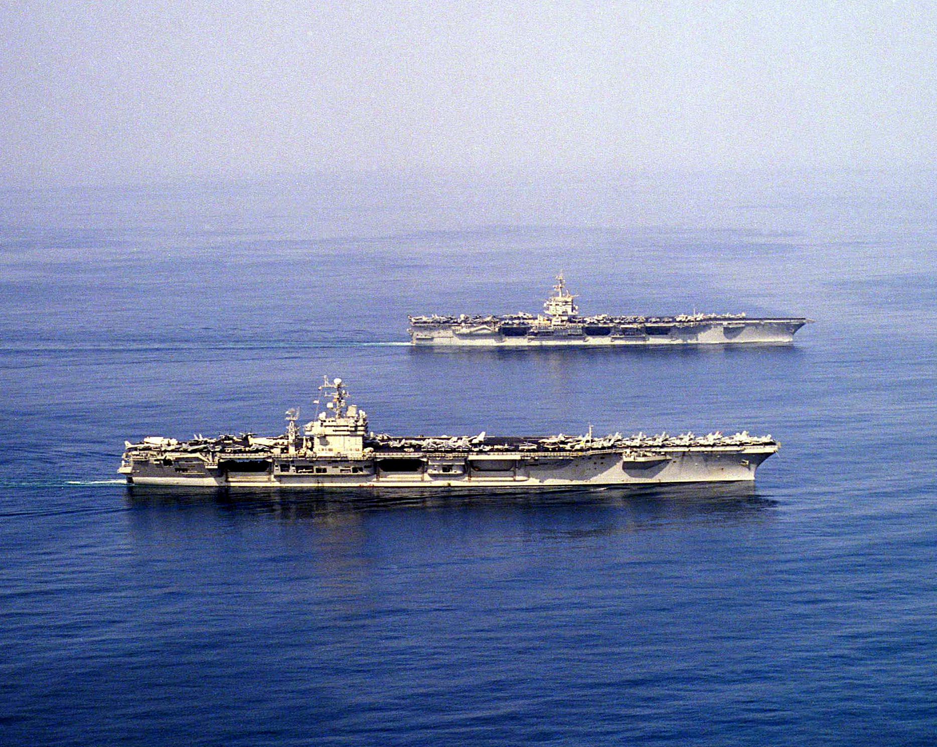 Uss Enterprise (cvn 65) & Uss Carl Vinson (cvn 70).