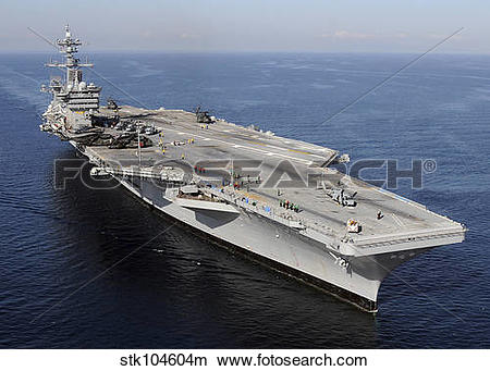 Stock Photo of Aircraft carrier USS Carl Vinson. stk104604m.