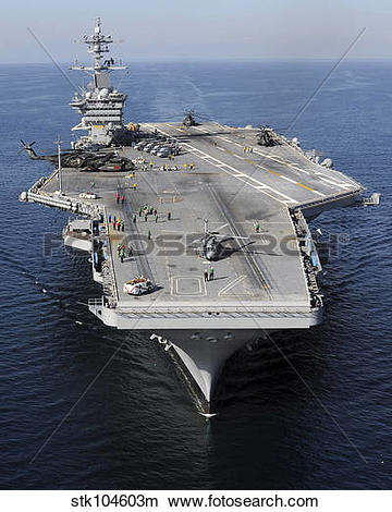 Stock Photo of Aircraft carrier USS Carl Vinson. stk104603m.