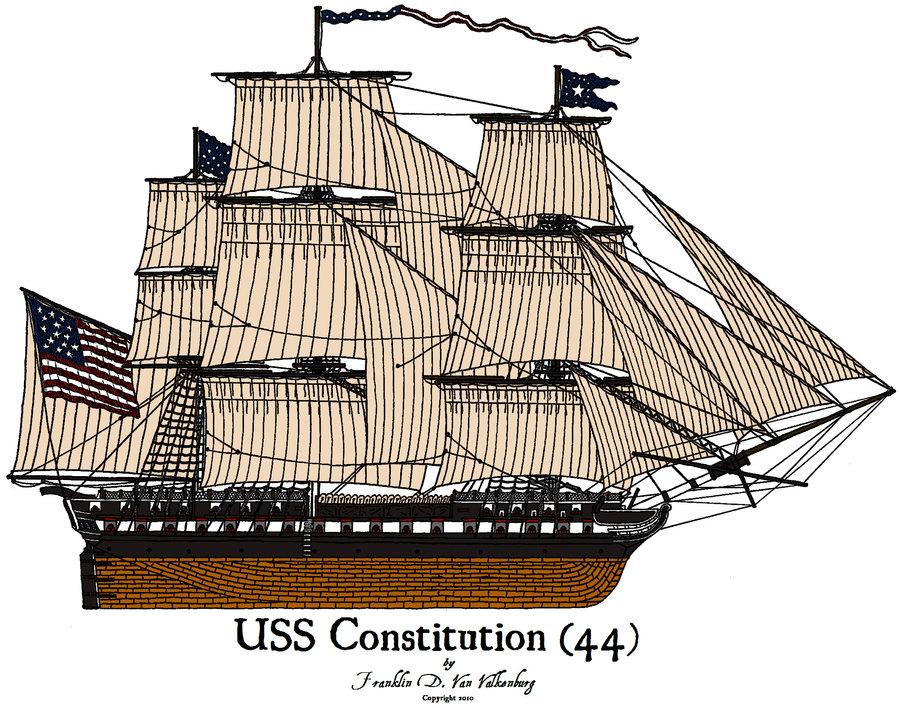 Uss constitution clipart.