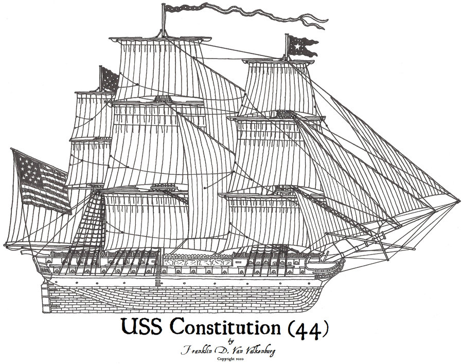 Images: Uss Constitution Drawings.