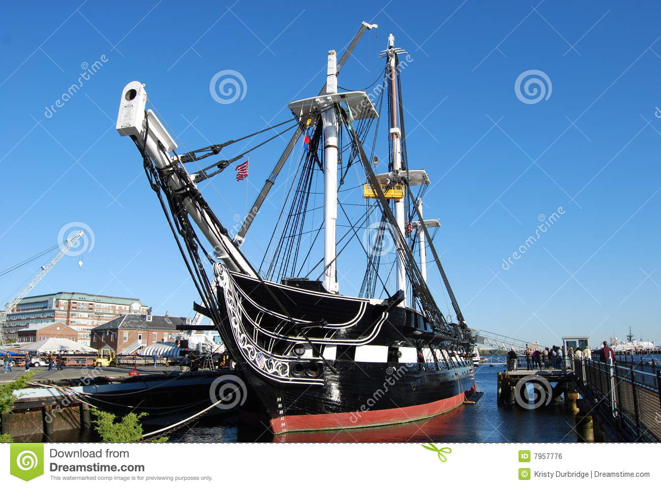 USS Constitution Royalty Free Stock Image.