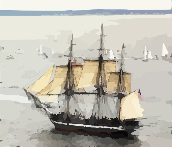 Uss Constitution Under Sail. Clip Art at Clker.com.