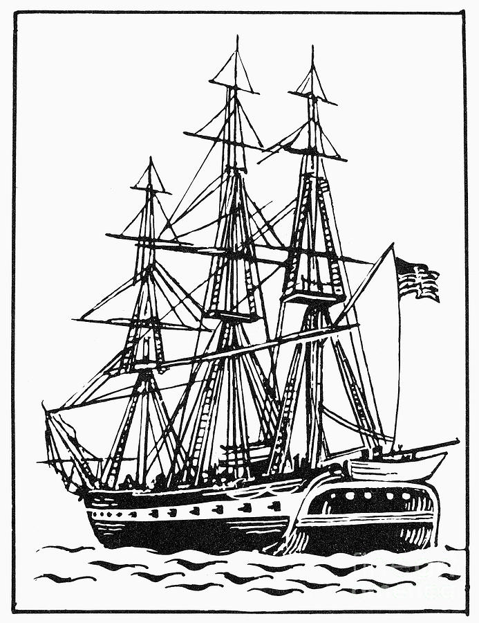 Uss Constitution Drawings.