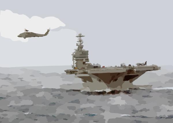 Sea Hawk Flies Over The Uss George Washington Clip Art at Clker.