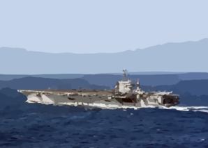 Uss George Washington (cvn 73) Underway In The Atlantic Ocean.