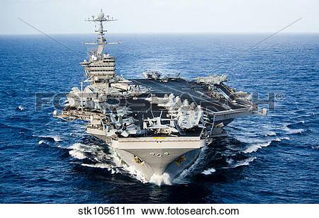 Stock Photo of USS John C. Stennis transits the Pacific Ocean.