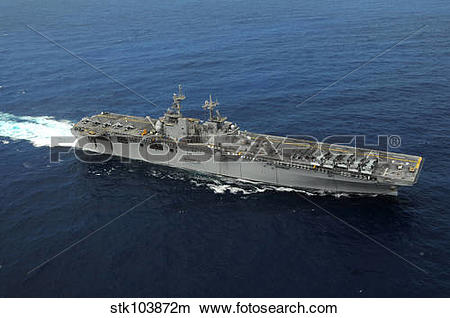 Stock Photo of Amphibious assault ship USS Kearsarge. stk103872m.
