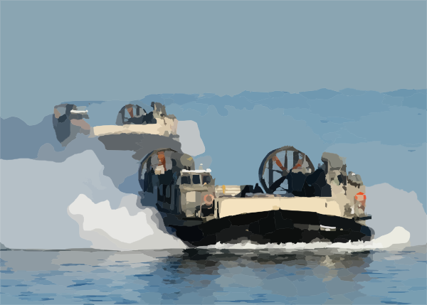 Landing Craft Air Cushion (lcac) Craft Approach The Amphibious.