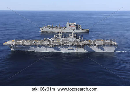 Stock Photo of Amphibious assault ship USS Kearsarge alongside.