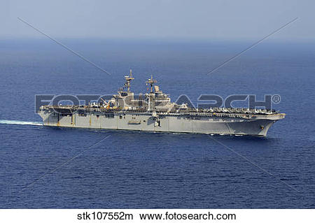 Stock Photo of Amphibious assault ship USS Kearsarge conducts.