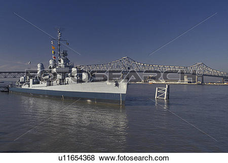 Pictures of navy, Mississippi River, Baton Rouge, Louisiana, LA.