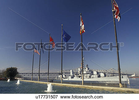 Picture of navy ship, Mississippi River, Baton Rouge, Louisiana.