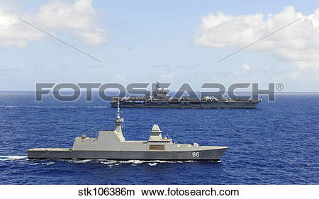 Stock Photo of Republic of Singapore frigate RSS Formidable.