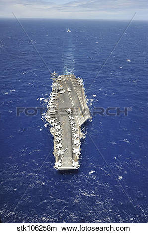 Stock Photo of The aircraft carrier USS Nimitz. stk106258m.