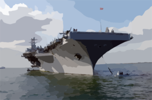 Uss Harry S. Truman (cvn 75) Anchors Out Of Portsmouth, England.