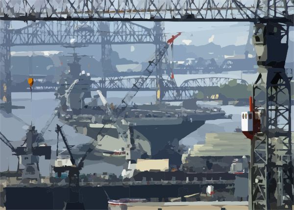 Uss George Washington (cvn 73) Transits Out Of The Norfolk Naval.