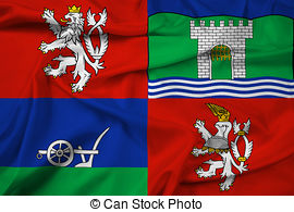 Stock Illustration of Flag of the Usti nad Labem, Czech Republic.
