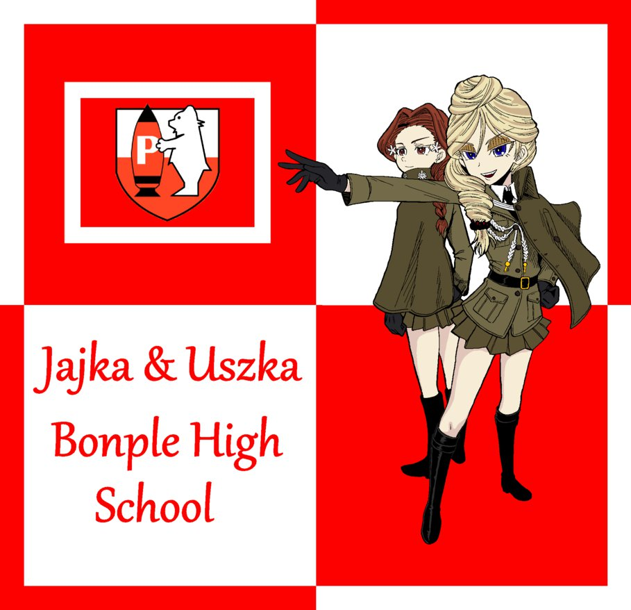 Jajka and Uszka of Bonple High School! by mirage2000 on DeviantArt.